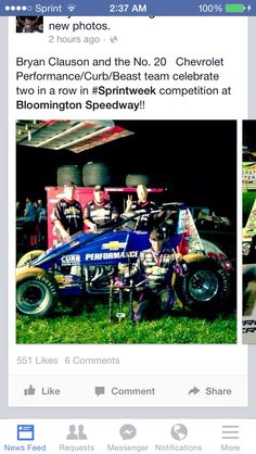 Bryan Clauson a roll with TS Racing
