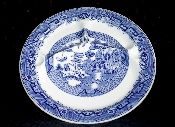 Jackson China Willow Blue Grille Plate