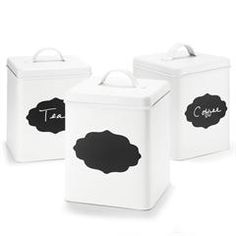 Metal Canister with Chalkboard Front