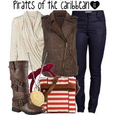 Pirates of the Caribbean by evil-laugh on Polyvore featuring Vero Moda, River Island, Pieces, ALDO, Kelly & Katie, Argento Vivo, DisneyWorld, piratesofthecaribbean and magickingdom