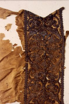 - Detail of the central vertical embroidered band now isolated from the rest of the skirt. Italian Clothing, Italian Outfits, Renaissance Costume, Italian Renaissance, Medieval Clothing, Historical Clothing, Clothing And Textile, 19th Century, Spanish