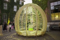 The Algae Dome is a four-metre-high plywood pavilion housing a photo-bioreactor—a closed-loop system that produces a huge amount of micro-algae. In the future… Protein Rich Foods, Nutrient Rich Foods, Fish Feed, Simple Rules, Greenhouse Gases, Cool Furniture, Furniture Design, Pavilion, House Colors