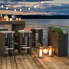 gartentisch paradise lounge i - polyrattan grau, fredriks jetzt, Gartengestaltung