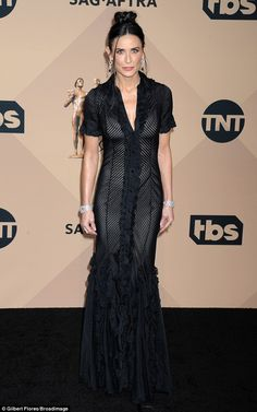 Stunner: Demi Moore looked fantastic as she rocked aa sheer number at the Screen Actors G...