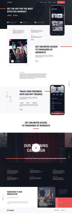 Homepage for a training app – Inspire Design Sites Layout, Web Layout, Layout Design, Layouts, Web Design, Graphic Design, Design Inspiration, Design Ideas, Social Media Design