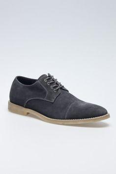 Dark grey suede shoes