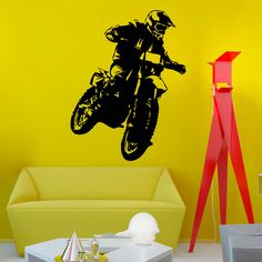 MT1001 Motocross Motorcycle Moto Dirty Bike Wall Art Sticker Decal Home DIY Decoration Decor Wall Mural Removable Room Decal Sti