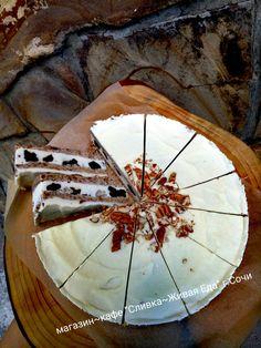 """Сыроедческий торт """"чернослив в сметане"""" #полезныесладостивсочи #80/10/10 #СЕ #ЗОЖ #торт #тортназаказ #польза #пекан"""