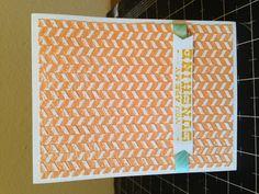 Inked embossing folder