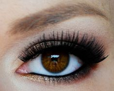 Eye Makeup for Brown Eyes..wish my eyelashes would grow this long!