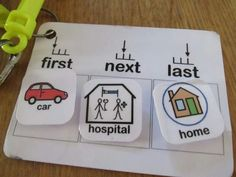 Help your child prepare for what is comibg next. Visuals work wonders for children with autism