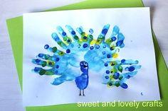 Hand Print Art kids-crafts