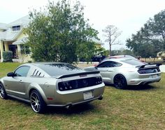 Me and my friend's Gen 5 and 6 silver stangs #Mustang #usedcar #car #cars