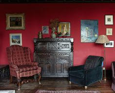 Browse thousands of interior and exterior images from Farrow & Ball. Be inspired with stunning home decor images and design ideas for your home. Red Walls, Decor, Discount Bedroom Furniture, Bedroom Furnishings, Living Room Color, Red Rooms, Eclectic Bedroom, Victorian Living Room, Living Room Red