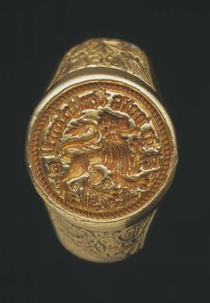 A LOVE STORY FROM THE WARS OF THE ROSES: The massive gold Raglan ring found in 1998 is likely to date from the middle or third quarter of the 15th century. ..