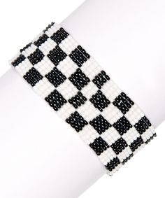 Black Cameron Beaded Bracelet