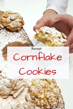 Cornflake cookies - biscuits with a difference - Rezepte - Nutella Easy Smoothie Recipes, Healthy Dessert Recipes, Cookie Recipes, Snack Recipes, Snacks, Corn Flakes, Pumpkin Spice Cupcakes, Fall Desserts, Ice Cream Recipes