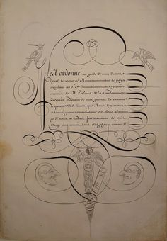 NICOLAS DUVAL Caligrafía Francesa s XVII