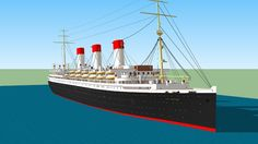 SS Cap Arcona - 3D Warehouse -  Visit my account at the 3D Warehouse! More than 50 famous and lesser known models of ocean liners, for free!!   All rights reserved  © Lucas Gustaffson (2015)