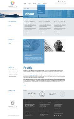 NOVUS PSD Template by Dan Ambrosevich, via Behance