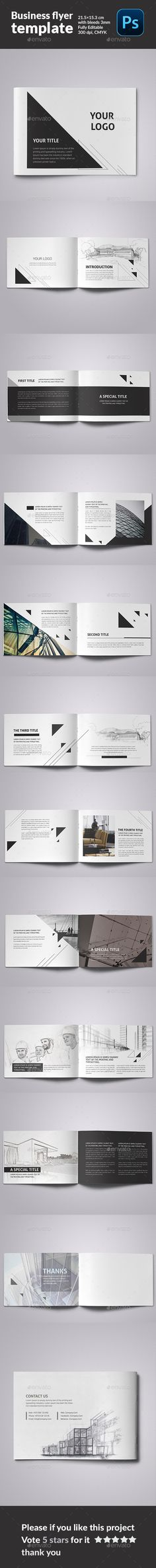 Minimal Architecture Brochure Template #design #broschüre Download: http://graphicriver.net/item/minimal-architecture-brochure_fb/12274779?ref=ksioks