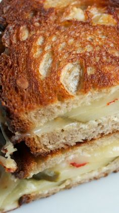 Grilled Cheese with Spicy Pickles, Pepper Jack  Garlic Aioli...