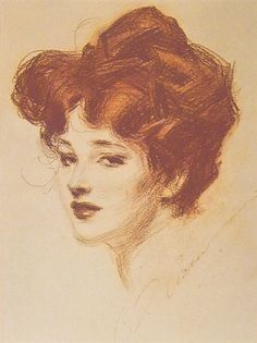 Charles Dana Gibson (14/9/1867-23/12/1944) was an American graphic artist, best known for his creation of the Gibson Girl, an iconic representation of the beautiful and independent American woman at the turn of the 20th Century.