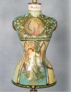 "Remarkable dress form becomes art.  ""Times of the Day by Tyl Decorator Mannequin after Mucha"""