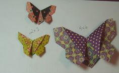 Origami butterfly tutorial for using scraps of paper