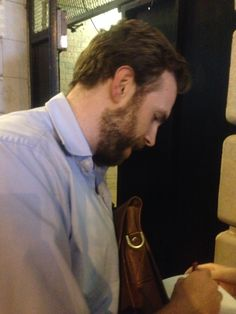 """Rafe Spall after """"Betrayal"""" of Harold Pinter (Preview performance) at Ethel Barrymore Theatre in NYC, 7th Oct. 2013 photo by my iphone 5"""