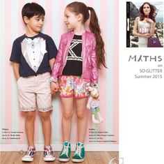 ‪#‎Press‬ // my ‪#‎MythsKids‬ bermuda completes this look on ‪#‎SoGlitter‬ magazine summer edition!