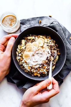 Detox Breakfast Bowls that are energy-packed to start your right. Vegan dirty chai detox breakfast bowls that are healthy, tasty, gluten free, & nourishing!