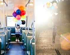 Going Down[town], Going Up. #balloons denisecollier.com #disneyside