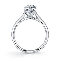 14K White Gold Engagement Ring Setting by RB Signature