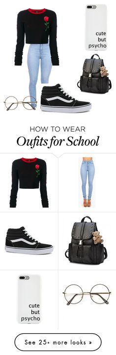 """""""Roses"""" by alyssaandilovewwe on Polyvore featuring Vibrant, County Of Milan and Vans"""