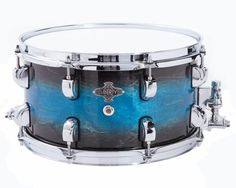 Liberty Drums 14x6.5 Blue earth fade snare drum