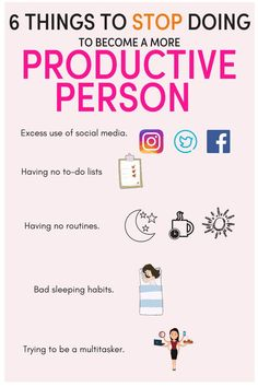 habits are killing your productivity/ how to be more productive at work/ have a productive day/ productivity tips/ productivity planner/ productivity ideas/ Productivity Apps/ productivity tips/ productivity hacks/ time management tips/ be organised/ Stop