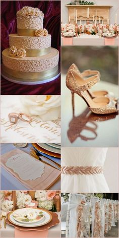 On Trend with Rose Gold on itsabrideslife.com/Pink and Gold Wedding/Rose Gold Wedding