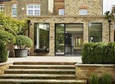 bulthaup by Kitchen Architecture 'Bespoke bulthaup living' case study House Extension Plans, House Extension Design, Extension Designs, Roof Extension, Patio Steps, Garden Steps, Edwardian House, Victorian Homes, Patio Design