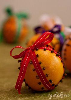 Orange and Clove Pomanders