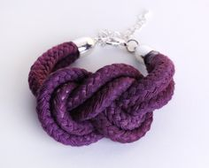 Sailor Knot - Cotton Rope Bracelet in eggplant. $17.00, via Etsy.