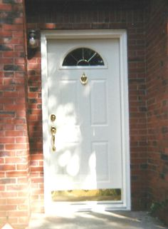 Front Entry Door Replacement With Fully Finished Steel Door Painted  Interior And Exterior With Brass Accents