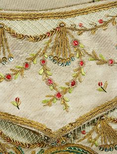 details from a men's costume dating 1765
