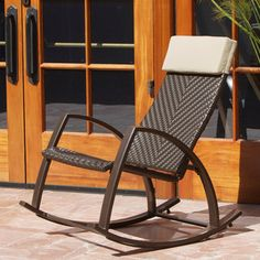 @Overstock - Barcelona Woven Wicker Outdoor Rocker Chair - Gently rock your cares away in this stunning outdoor rocking chair. With a sling made of hand woven wicker, this rocker chair provides support to your back and shoulders.     http://www.overstock.com/Home-Garden/Barcelona-Woven-Wicker-Outdoor-Rocker-Chair/7879710/product.html?CID=214117  $296.99