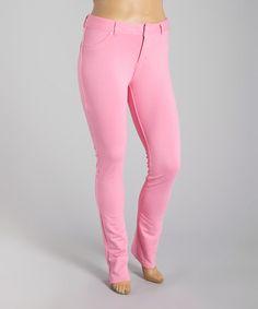 c0999610435 Pink Pocket Jeggings - Plus  zulilyfinds Curvy Women