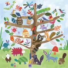 @rosenberryrooms is offering $20 OFF your purchase! Share the news and save!  Tree of Life - Critters Canvas Wall Art #rosenberryrooms