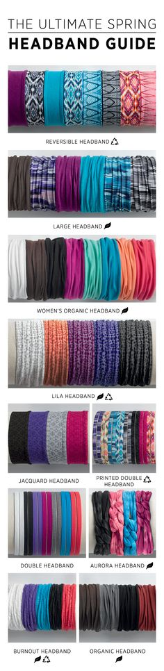 The ultimate headband guide, to help you workout in style without messing up your hair! @prAna has great headbands for any occasion made of Organic Cotton + Recycled Materials. Head to prAna.com to add some vibrant color to your sustainable style.