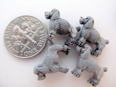 20 Tiny Grey Poodle Beads CB268 by TheCraftyBead on Etsy