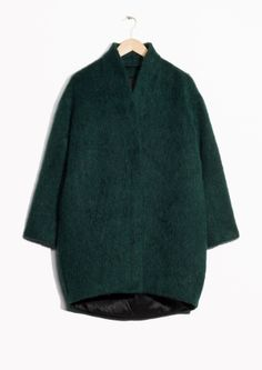 & Other Stories image 2 of Wool-Blend Coat in Green Dark