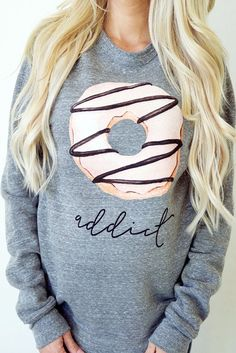 Shop for a Cause | 25% goes to Pediatric Cancer Research | Donut Addict PULLOVER- Women's